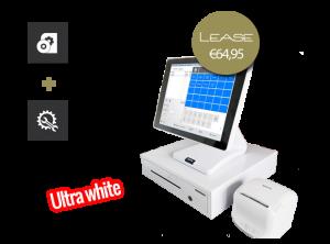 Kassasysteem glossy white, kassasysteem, kassasysteem leasen