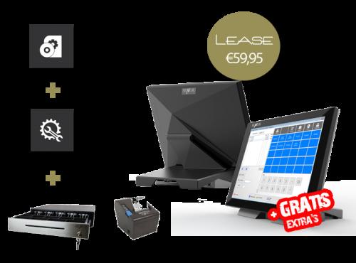 Touchscreen kassasysteem, kassasystemen, goedkope kassa, kassa leasen, kassasysteem leasen