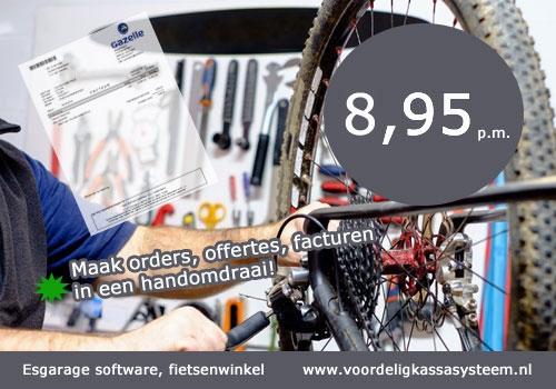 fietsenwinkel kassasysteem, kassa software fietsenwinkel, fietsenwinkel kassa programma