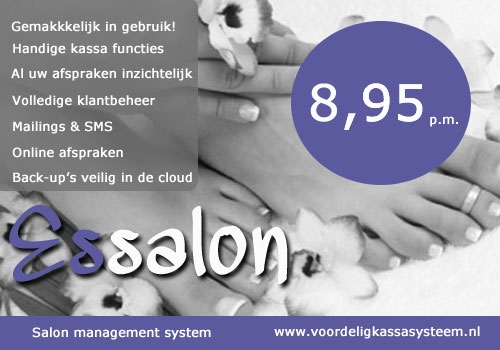 nagelsalon kassasysteem, nagelsalon software, pedicure systeem, manicure systeem