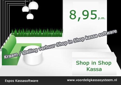 Shop in shop kassasysteem, kassa software shop in sop, conceptstore kassasysteem